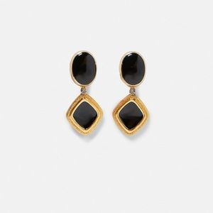 NWT Zara Gold Earrings with Stones
